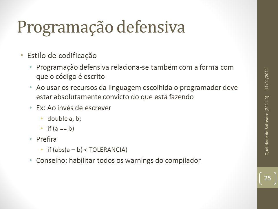Programação defensiva