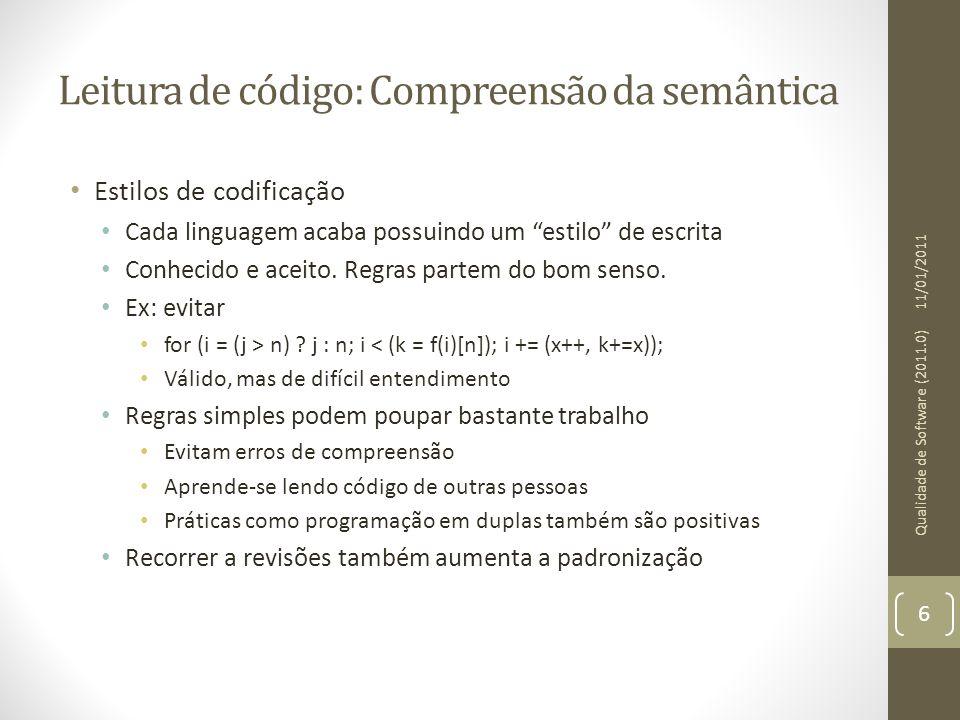 Leitura de código: Compreensão da semântica