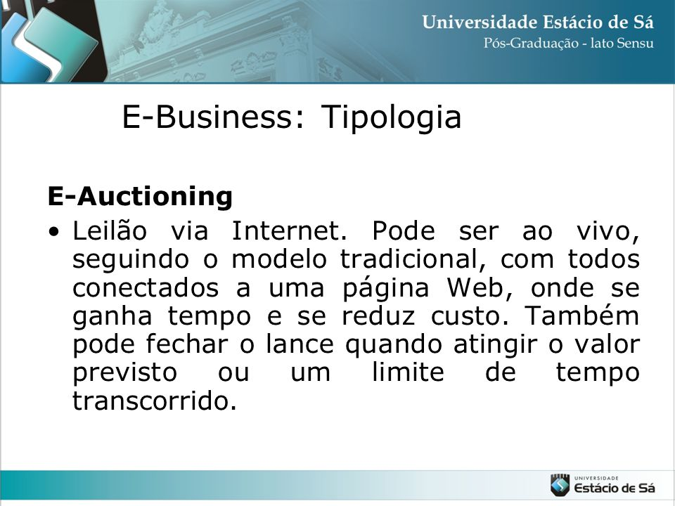 E-Business: Tipologia