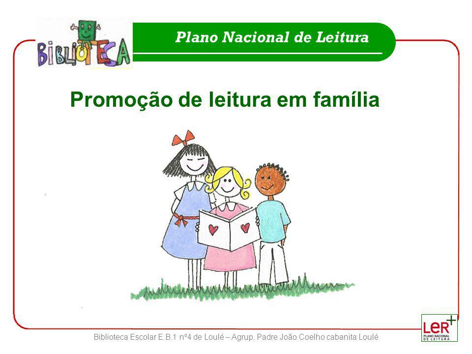 Promoção de leitura em família