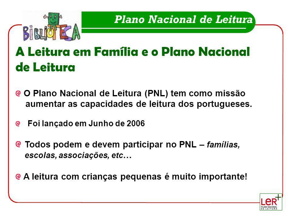 A Leitura em Família e o Plano Nacional de Leitura