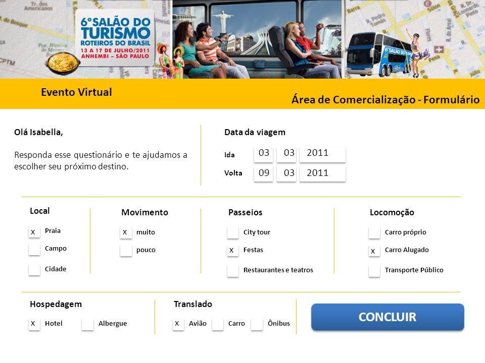 CONCLUIR Evento Virtual Área de Comercialização - Formulário 03 03
