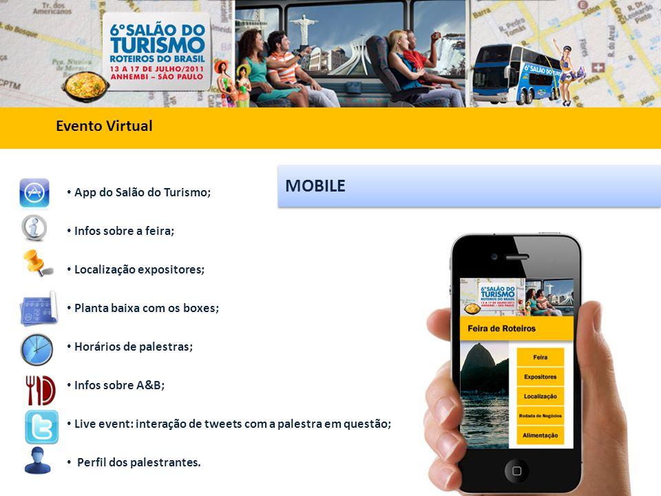 MOBILE Evento Virtual App do Salão do Turismo; Infos sobre a feira;