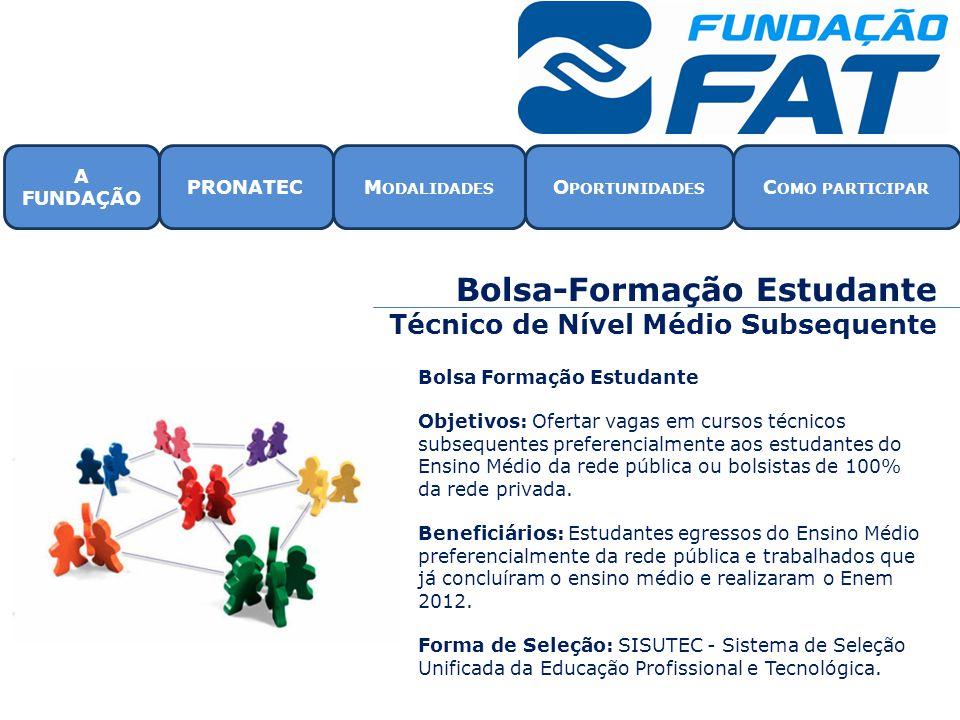 Bolsa-Formação Estudante Técnico de Nível Médio Subsequente