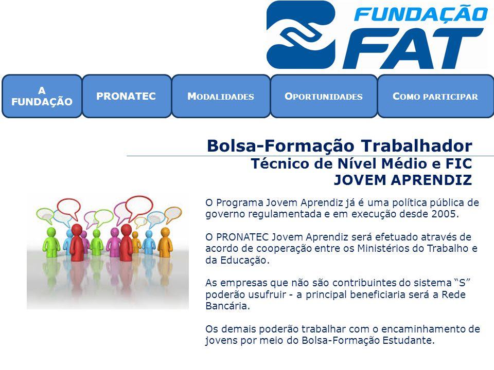 Bolsa-Formação Trabalhador Técnico de Nível Médio e FIC