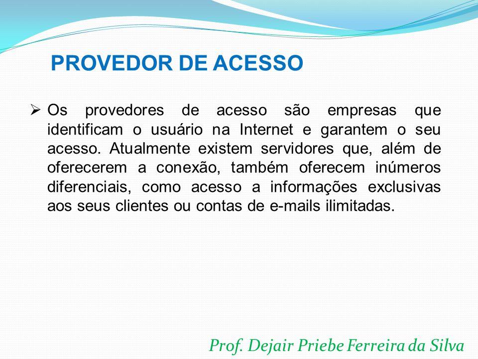 PROVEDOR DE ACESSO Prof. Dejair Priebe Ferreira da Silva