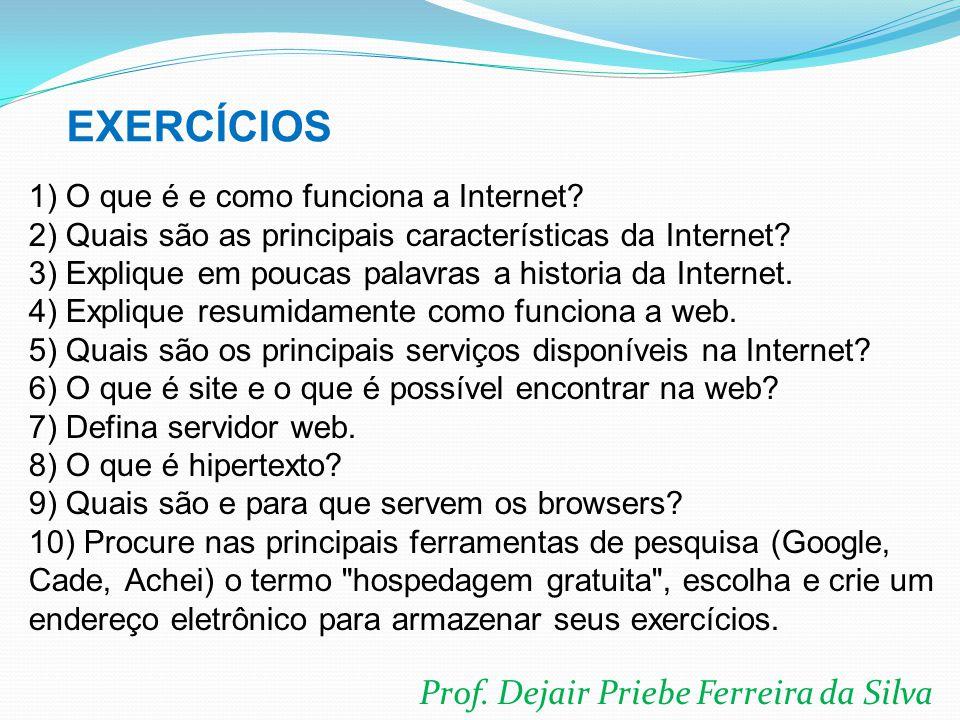 EXERCÍCIOS Prof. Dejair Priebe Ferreira da Silva