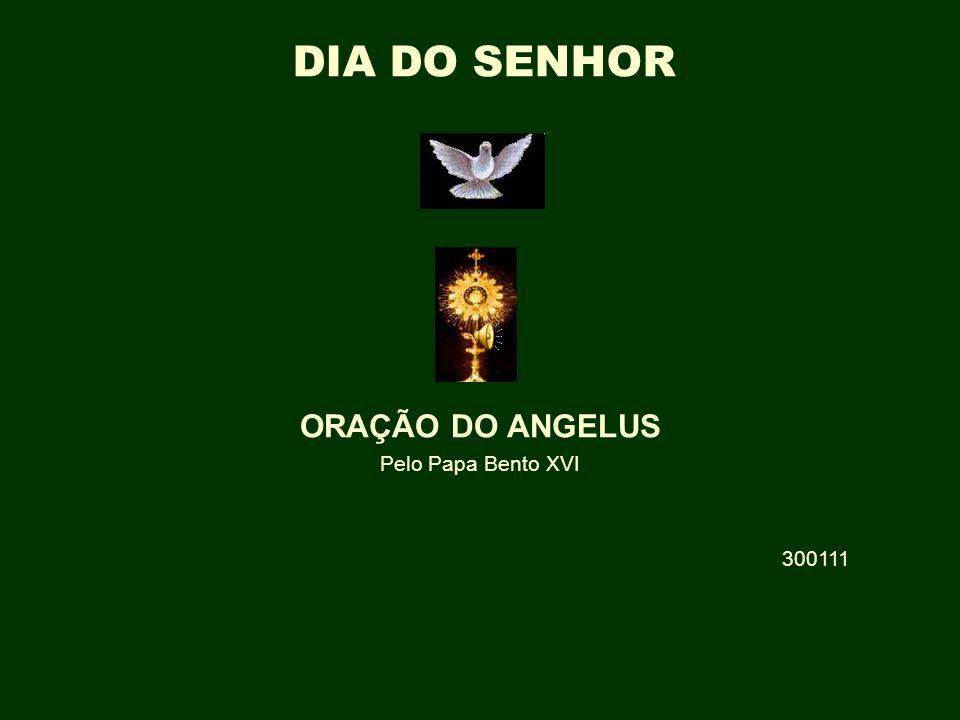 † ORAÇÃO DO ANGELUS Pelo Papa Bento XVI 300111