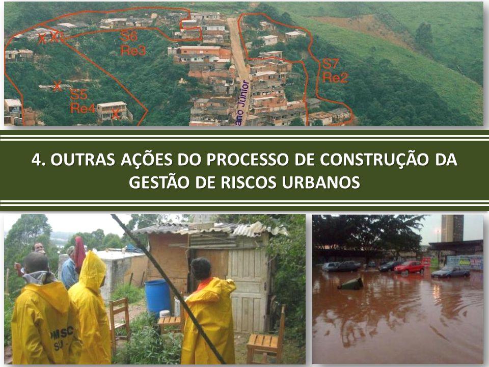 4. OUTRAS AÇÕES DO PROCESSO DE CONSTRUÇÃO DA GESTÃO DE RISCOS URBANOS