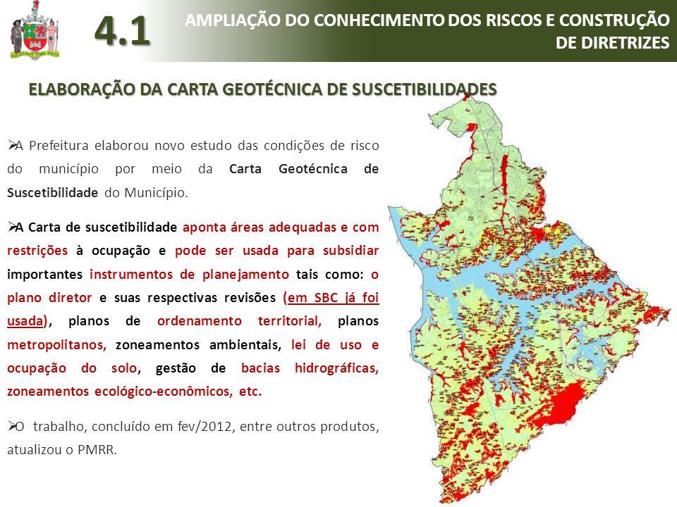 4.1 AMPLIAÇÃO DO CONHECIMENTO DOS RISCOS E CONSTRUÇÃO DE DIRETRIZES