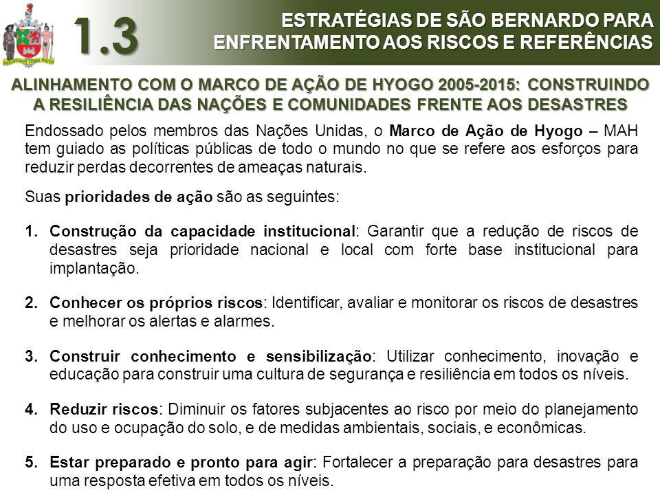 1.3 ESTRATÉGIAS DE SÃO BERNARDO PARA ENFRENTAMENTO AOS RISCOS E REFERÊNCIAS.