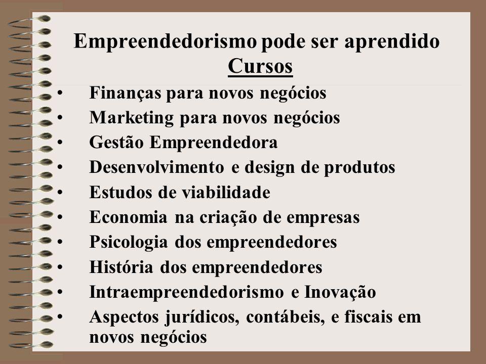 Empreendedorismo pode ser aprendido