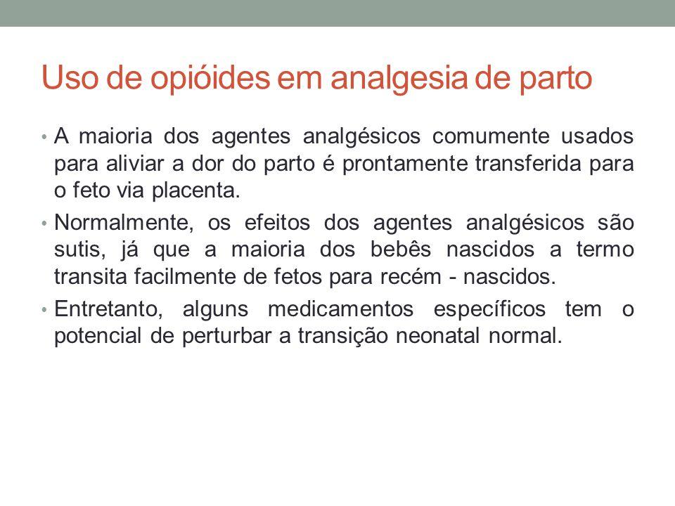 Uso de opióides em analgesia de parto