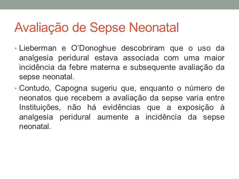 Avaliação de Sepse Neonatal