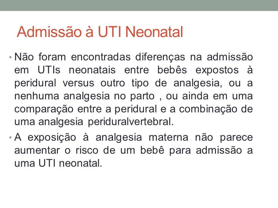 Admissão à UTI Neonatal