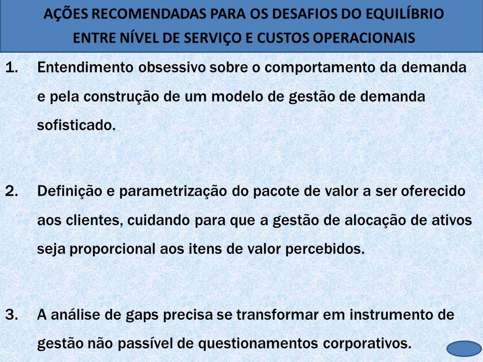 AÇÕES RECOMENDADAS PARA OS DESAFIOS DO EQUILÍBRIO