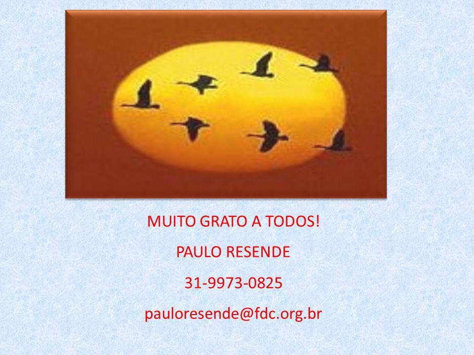 MUITO GRATO A TODOS! PAULO RESENDE 31-9973-0825 pauloresende@fdc.org.br
