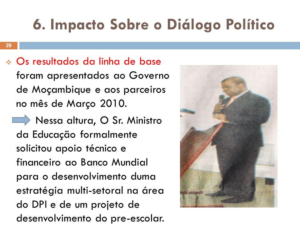 6. Impacto Sobre o Diálogo Político
