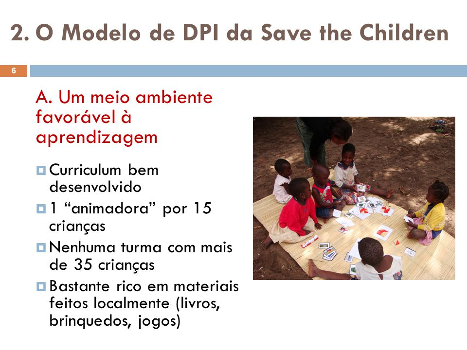 2. O Modelo de DPI da Save the Children