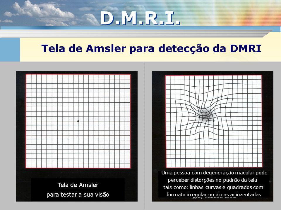 Tela de Amsler para detecção da DMRI