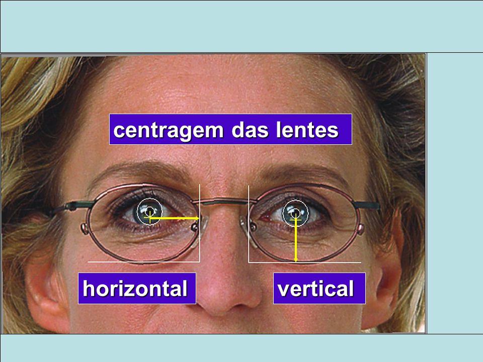 centragem das lentes horizontal vertical