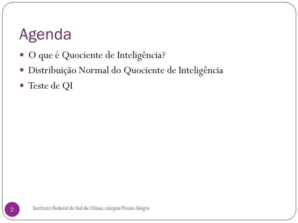 Agenda O que é Quociente de Inteligência