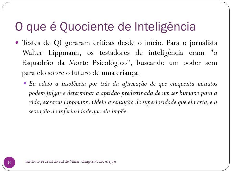 O que é Quociente de Inteligência