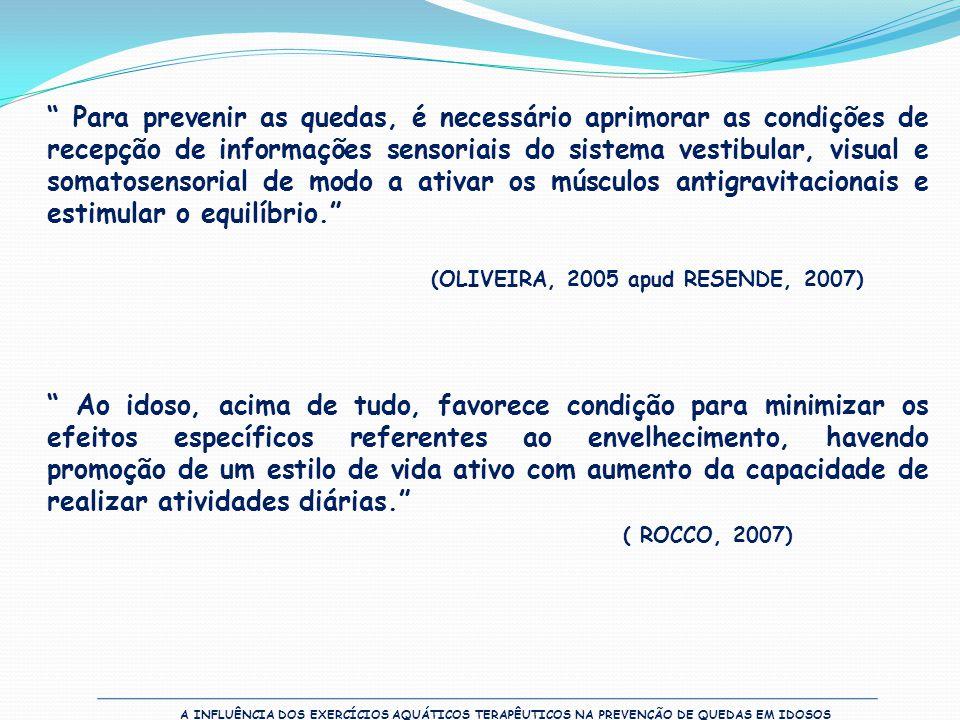 (OLIVEIRA, 2005 apud RESENDE, 2007)