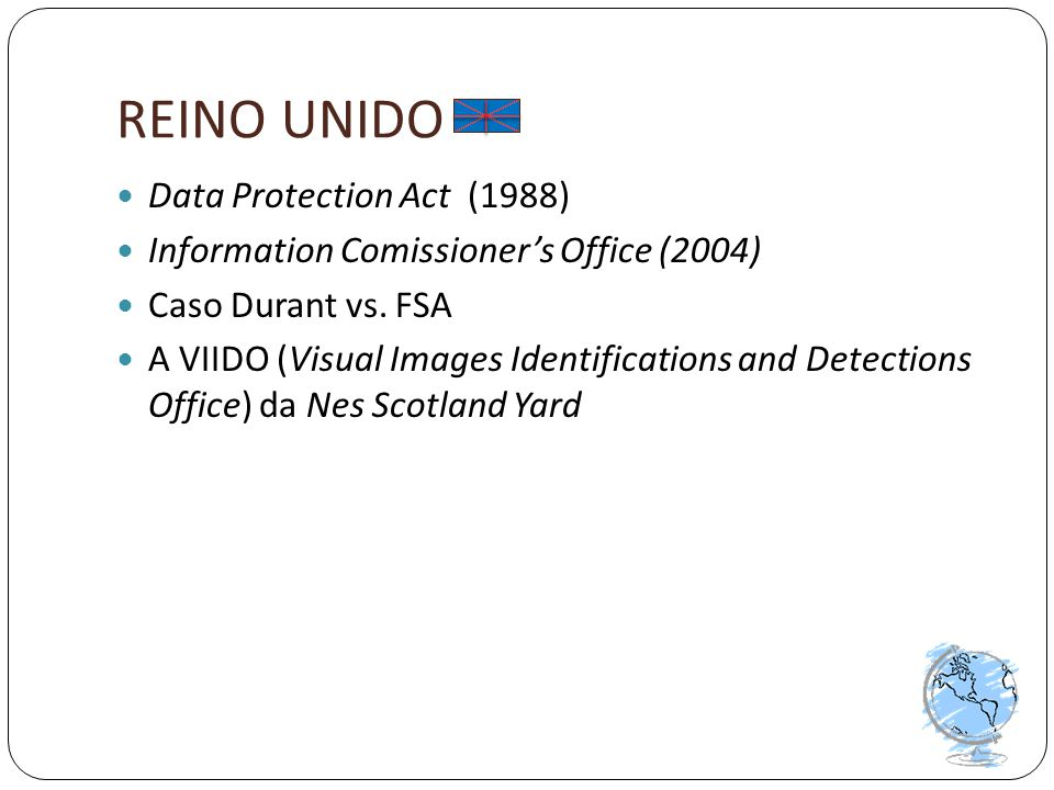 REINO UNIDO Data Protection Act (1988)