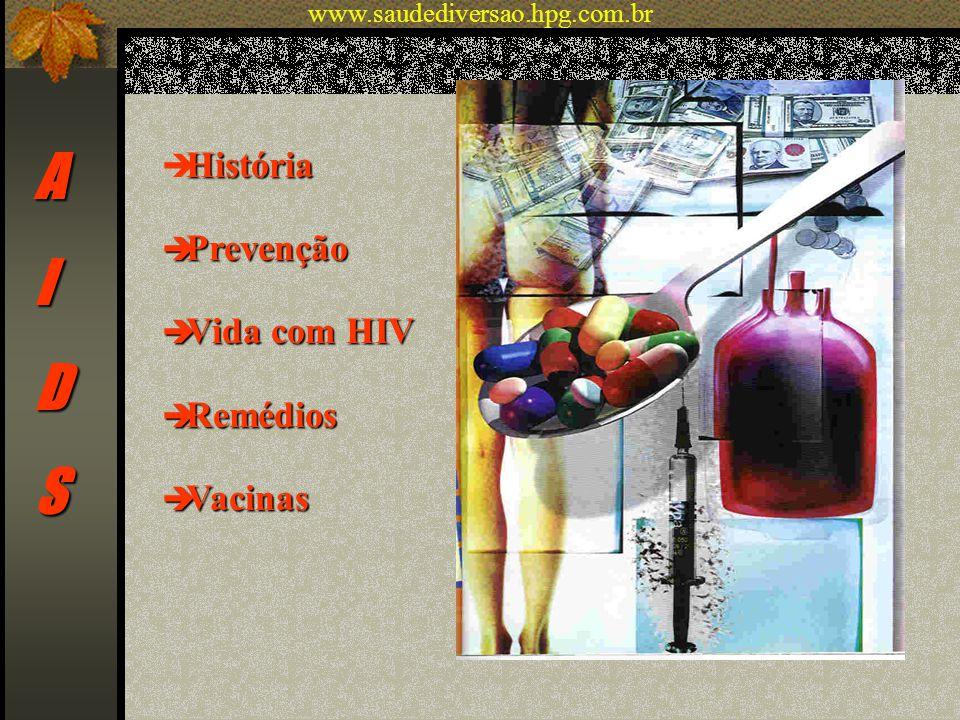 A I D S História Prevenção Vida com HIV Remédios Vacinas