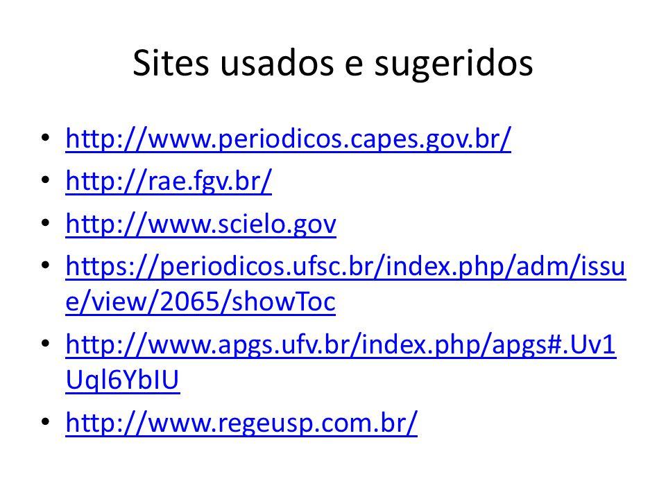 Sites usados e sugeridos