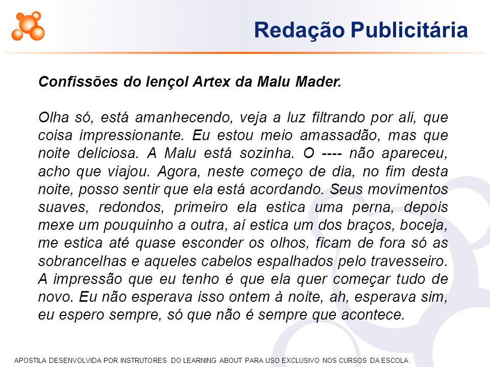 Confissões do lençol Artex da Malu Mader.