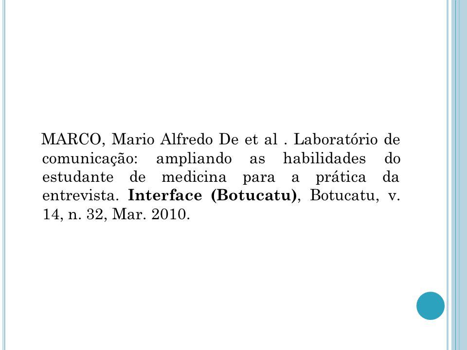 MARCO, Mario Alfredo De et al