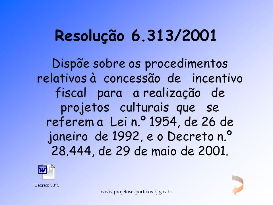 Resolução 6.313/2001