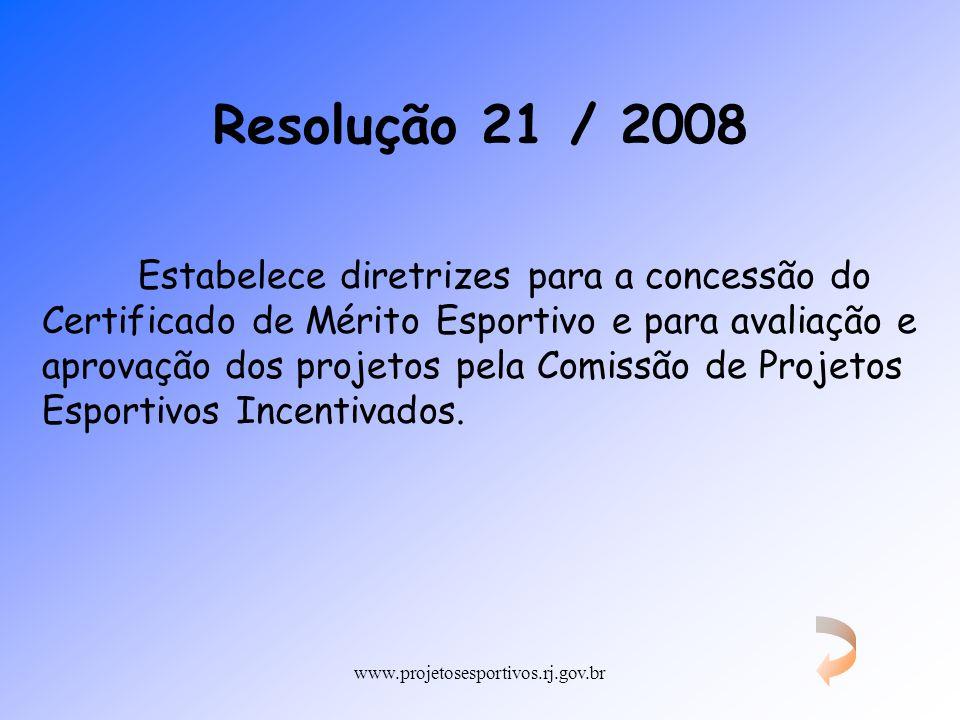 Resolução 21 / 2008