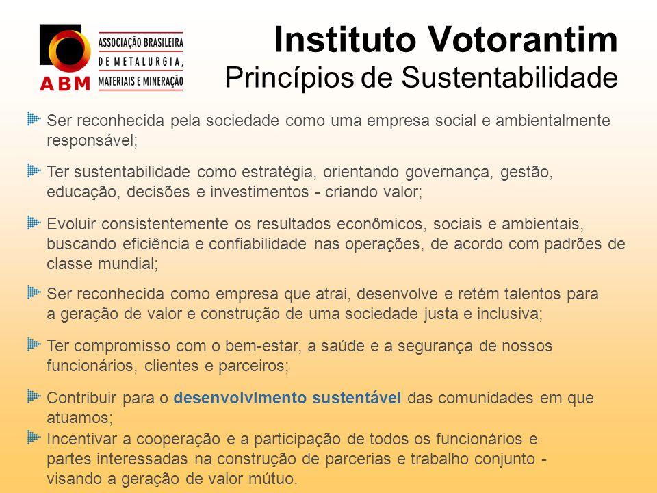 Instituto Votorantim Princípios de Sustentabilidade