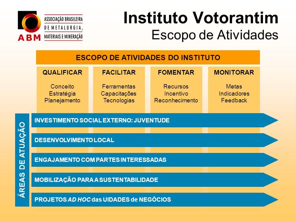 Instituto Votorantim Escopo de Atividades