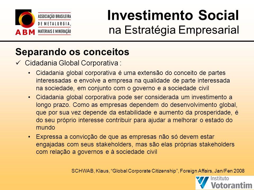 Investimento Social na Estratégia Empresarial