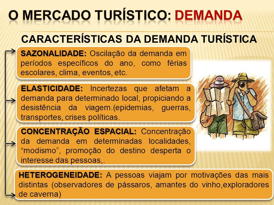 CARACTERÍSTICAS DA DEMANDA TURÍSTICA