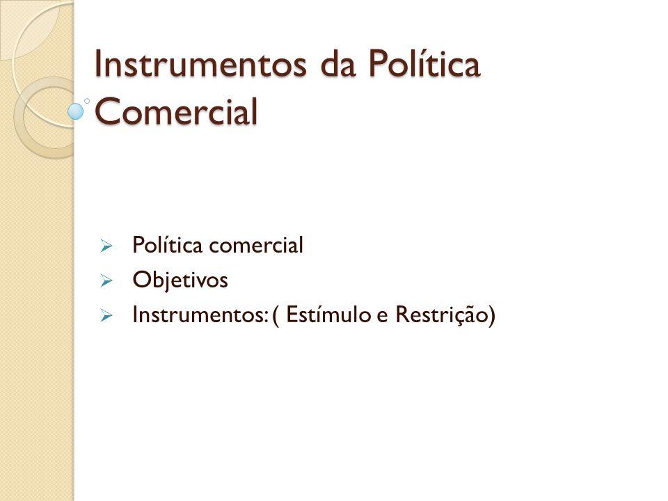 Instrumentos da Política Comercial