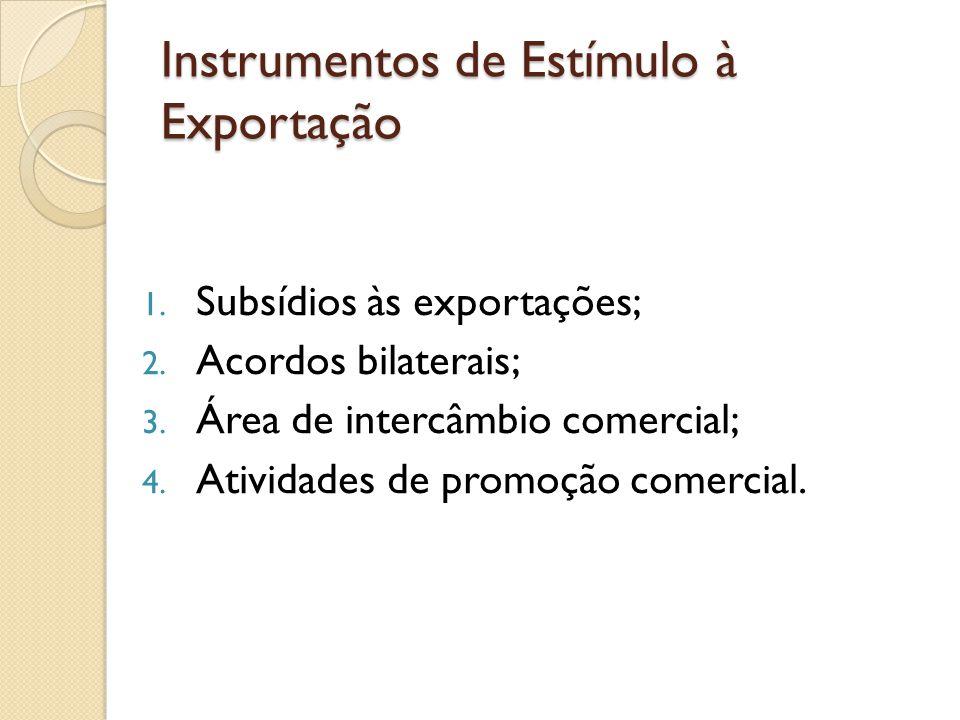 Instrumentos de Estímulo à Exportação