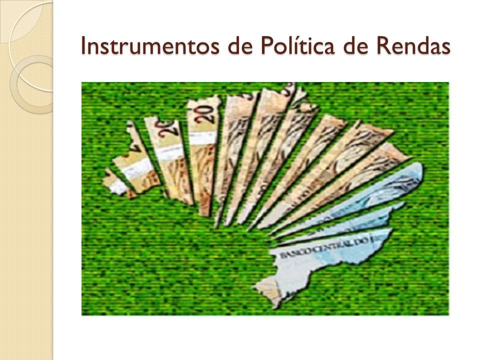 Instrumentos de Política de Rendas