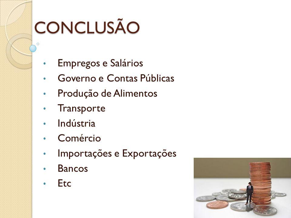 CONCLUSÃO Empregos e Salários Governo e Contas Públicas
