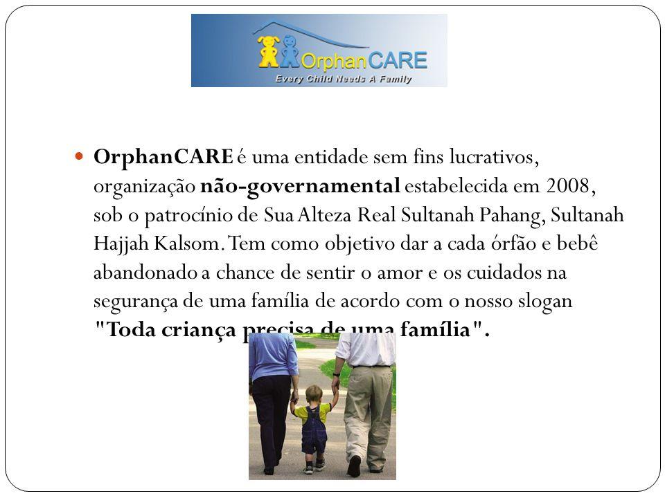 OrphanCARE é uma entidade sem fins lucrativos, organização não-governamental estabelecida em 2008, sob o patrocínio de Sua Alteza Real Sultanah Pahang, Sultanah Hajjah Kalsom.