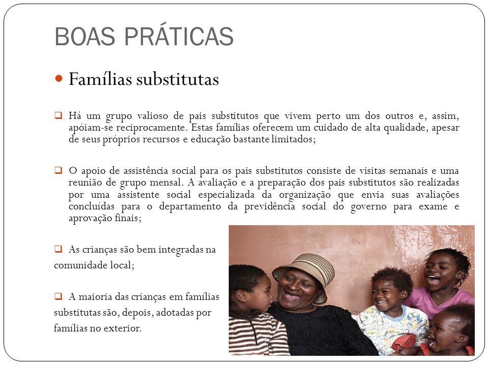 BOAS PRÁTICAS Famílias substitutas