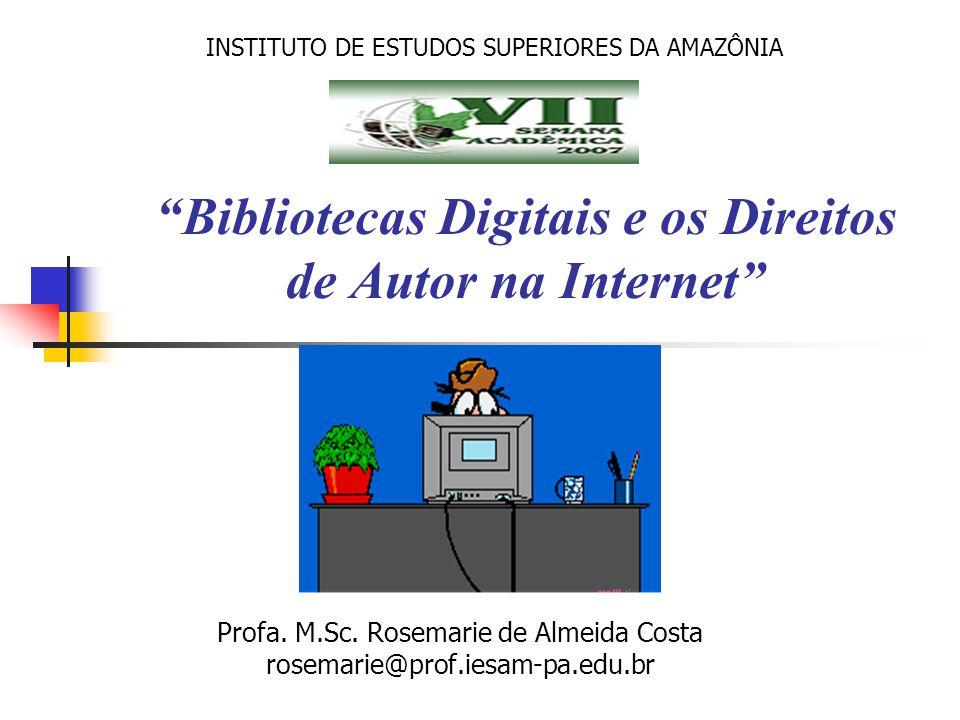 Bibliotecas Digitais e os Direitos de Autor na Internet