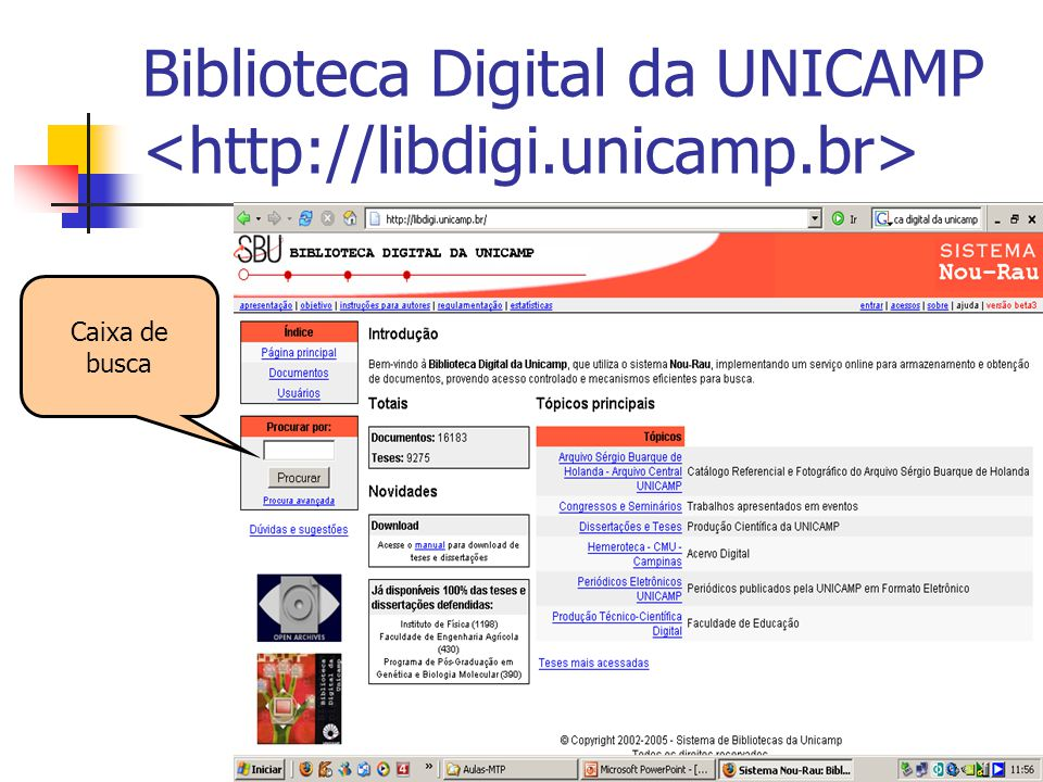 Biblioteca Digital da UNICAMP <http://libdigi.unicamp.br>