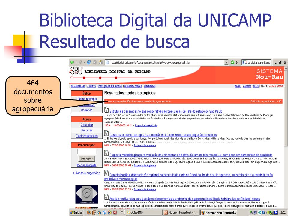 Biblioteca Digital da UNICAMP Resultado de busca