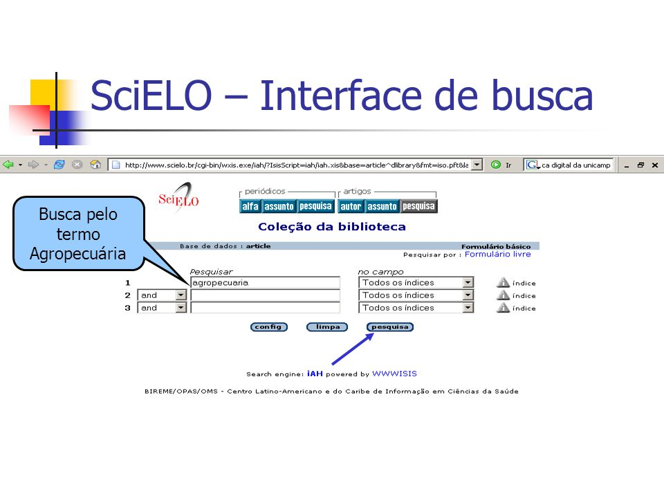 SciELO – Interface de busca