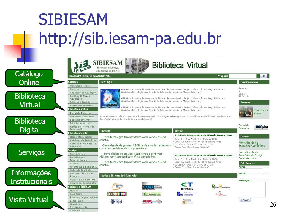 SIBIESAM http://sib.iesam-pa.edu.br